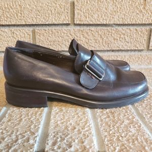 Franco Sarto Loafers Brown Leather Women's 6.5 M